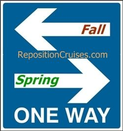 Transatlantic repositioning cruise ships and lines